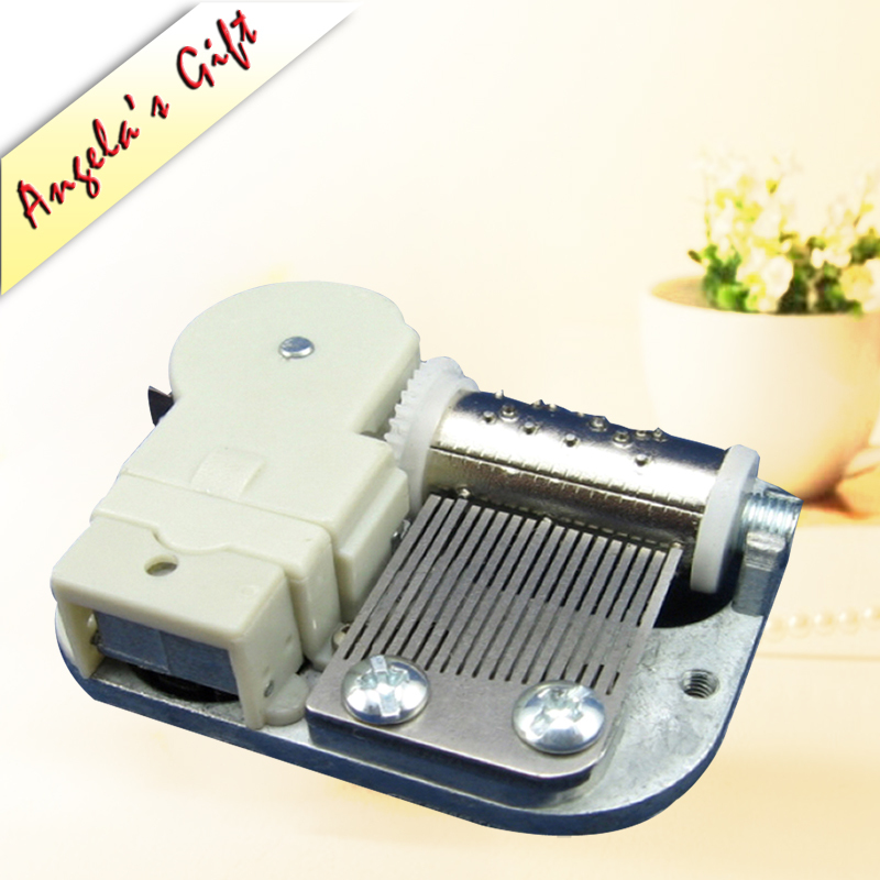 Mini DIY music box 18 Note wind up clockwork musical movements free shipping Angela's gifts image
