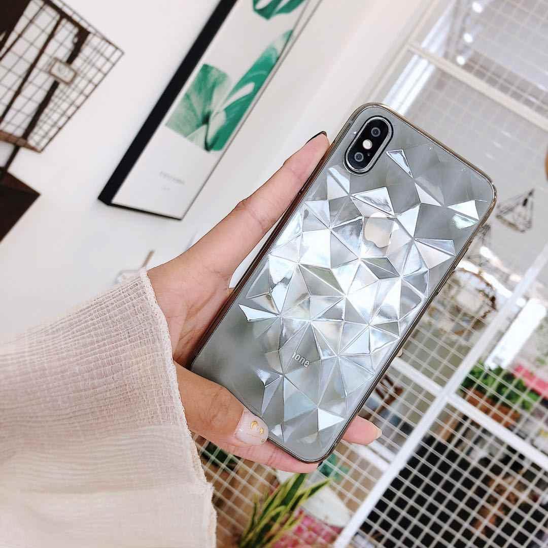 3D diamante suave TPU funda de silicona para iPhone 6 s 6 S 7 S 8 Plus 10 X S XR XS Max 6 Plus 6 Plus 7 Plus 8 Plus
