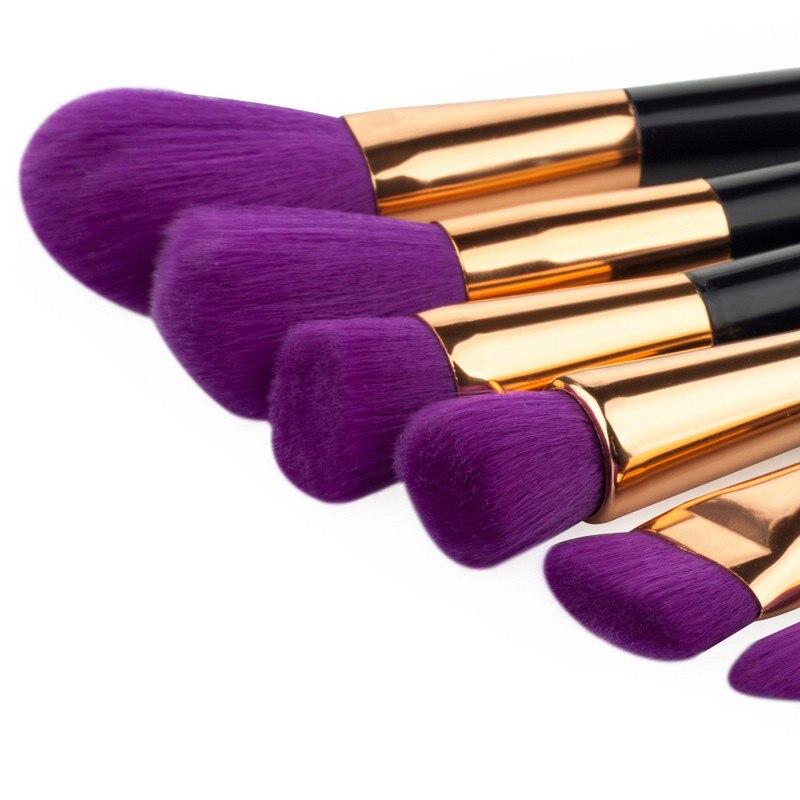 HOT 15 PCS PURPLE COMPLETE MAKEUP BRUSH SET Professional  Face Makeup Foundation Blending Kabuki Brush Cosmetics Tools