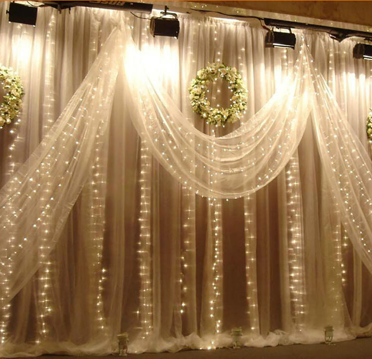 25x2m 360beads flashing window lamp background decoration led 25x2m 360beads flashing window lamp background decoration led waterfall lights holiday christmas wedding ceremony light x 2pcs in holiday lighting from junglespirit Images
