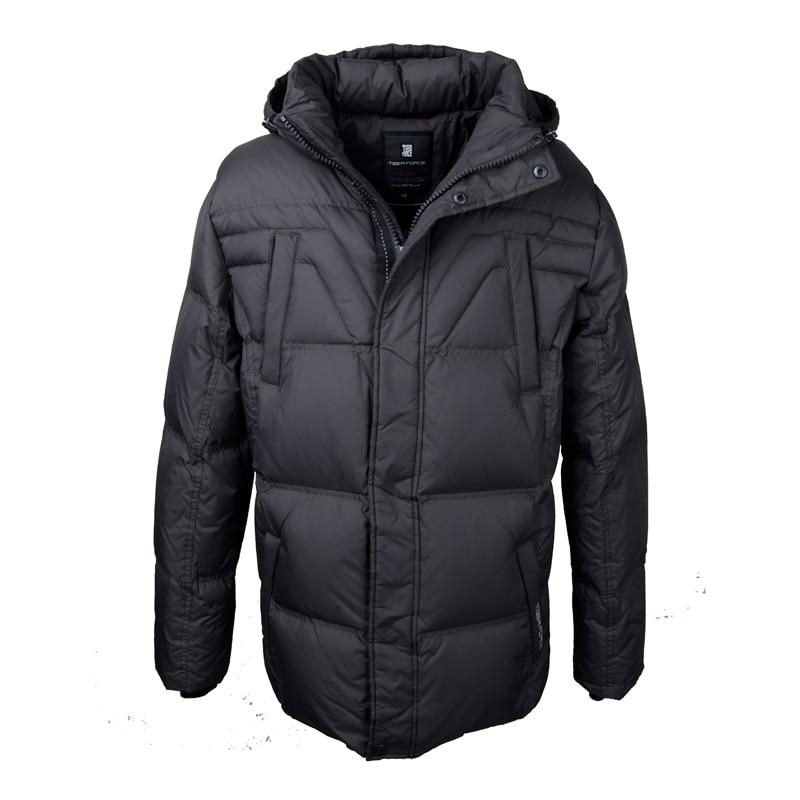 Тигр силы 2016 мужчины модный свободный пуховик 70% утка пуховое пальто с капюшоном стильная зимняя куртка бесплатная доставка d 210А