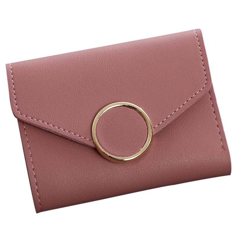 Woweino Leather Women Short Wallets Ladies Fashion Small Hasp Coin Purse Card Wallet Purses Handbag Money Bag Carteira Feminina