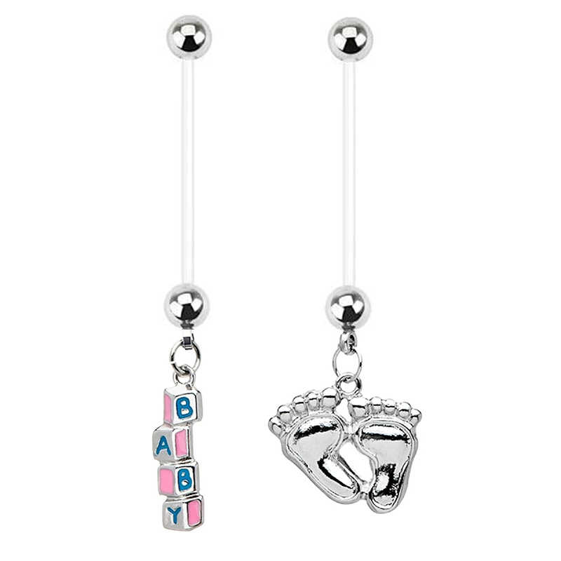 1PC Bohmeian Belly Button Rings Fashion Women Pregnancy Navel Piercing Earring Cute Baby Body Jewelry Piercing Navel Nombril