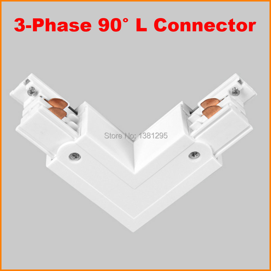 3 Phase Circuit 4 Wire Square LED Track Light Rail L Shape Connector  Aluminum Track Accessories LED Lighting Track System White In Track Lighting  From ...