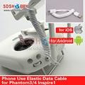 Elástica Cable de Datos para DJI Phantom 3/4/PRO + Inspire1 Adecuado para IOS Android Móviles