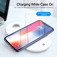 3 in 1 Mobile Phone Watch Headphone Charger Wireless Quick Charger Adapter Holder Pad For Cellphone Wristwatch Earbuds