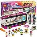 684 шт. SY380 10407 Друзей серии Поп-Звезда Автобус Строительные Наборы модель строительные блоки девушки сборки игрушки Совместимо с Legoe