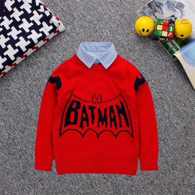Retail kids Sweater Winter 2016 Casual knit clothes Children Knitwear thicking cardigan baby boys girls Knitted Clothing weater