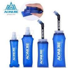 AONIJIE Беговая спортивная мягкая бутылка для воды, складная термополиуретановая мягкая колба для воды с длинными соломенными пузырьками, сумка 350/600 мл