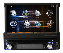1 DIN Car DVD Player for univesal cars with touch screen, with GPS Bluetooth Radio