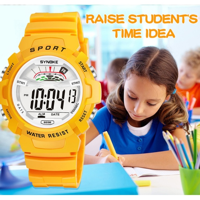 SYNOKE LED Digital Children Watch Kids Watches Girls Boys Clock Child Sport Wris