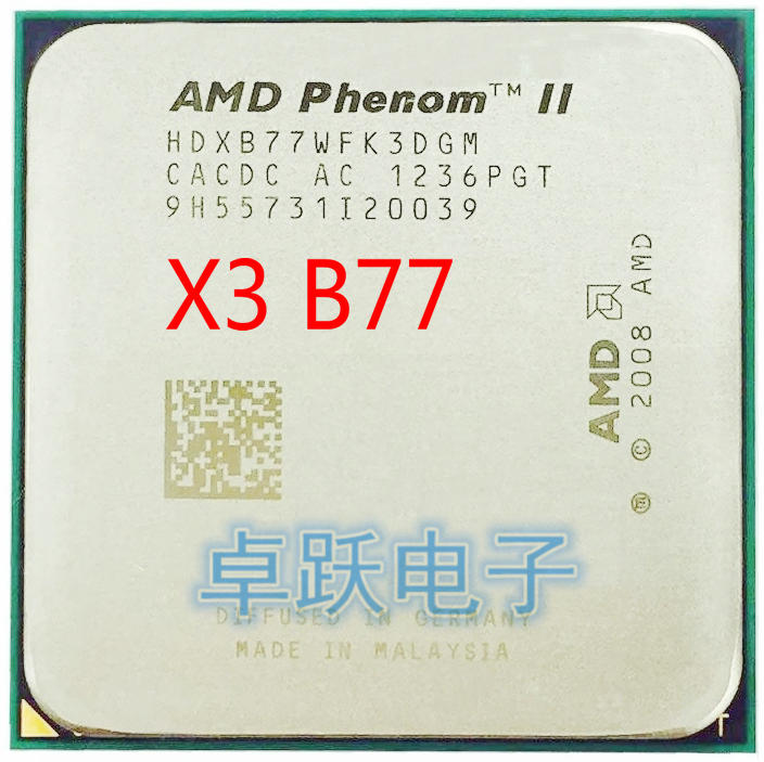 AMD Phenom II X3 B77 3.2 GHz triple core CPU Processor Socket AM3  X3 B77 free shipping-in CPUs from Computer & Office