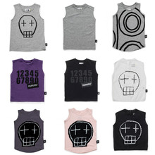 TODDLER BOY CLOTHES KIDS SKULL T SHIRTS TANK TOPS TODDLER BABY VEST BABY CLOTHES THISRTS  TOPS