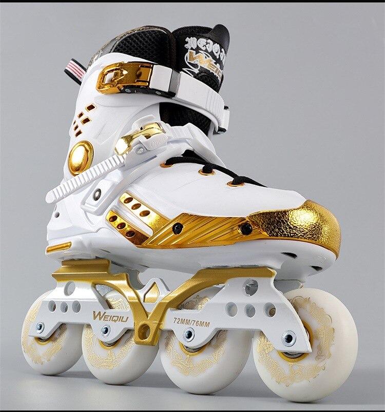 Patins en or noir platine adultes hommes en ligne femmes patins chaussures plates fantaisie patins à roulettes