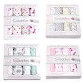 4pcs/pack Summer New Organic Cotton Muslin Swaddle Newborns Baojin Gift Set Four Pieces ATRQ0496