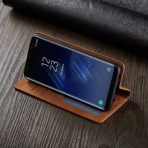 Image 2 - Virar Capa Carteira de Couro de Luxo Caixa Do Telefone Para Samsung Galaxy S8 Plus Suporte Magnético SM G950F G955F Galaxys8 S8plus S 8 8plus
