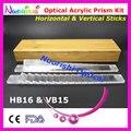 Офтальмологическая оптический оптометрия акриловый горизонтальная вертикальные призмы объектив палочки комплект комплект бамбук чехол упакованные HVB15 бесплатная доставка
