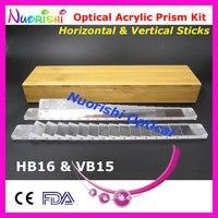 Офтальмологических оптический оптометрии акрил Горизонтальные и вертикальные Prism объектив Щупы для мангала комплект Бамбук подобравшую