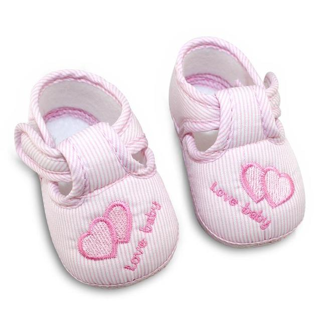 Cotton Lovely Baby Shoes Toddler Unisex Soft Sole Skid-proof 0-12 Months Kids Infant Shoes Newest 2019 1