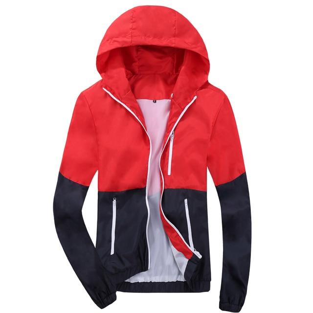 2018 Stylish Fashion High Quality  Coats, Men Causal Hooded  Men Thin  Zipper Coats Outwear