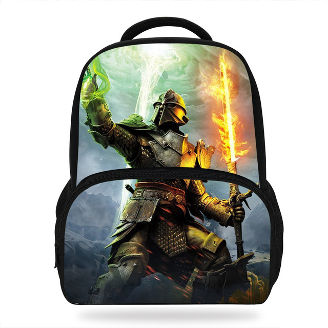 14inch Fashional Print Backpack For Kids Boys S Dragon Age Bags School Students Book