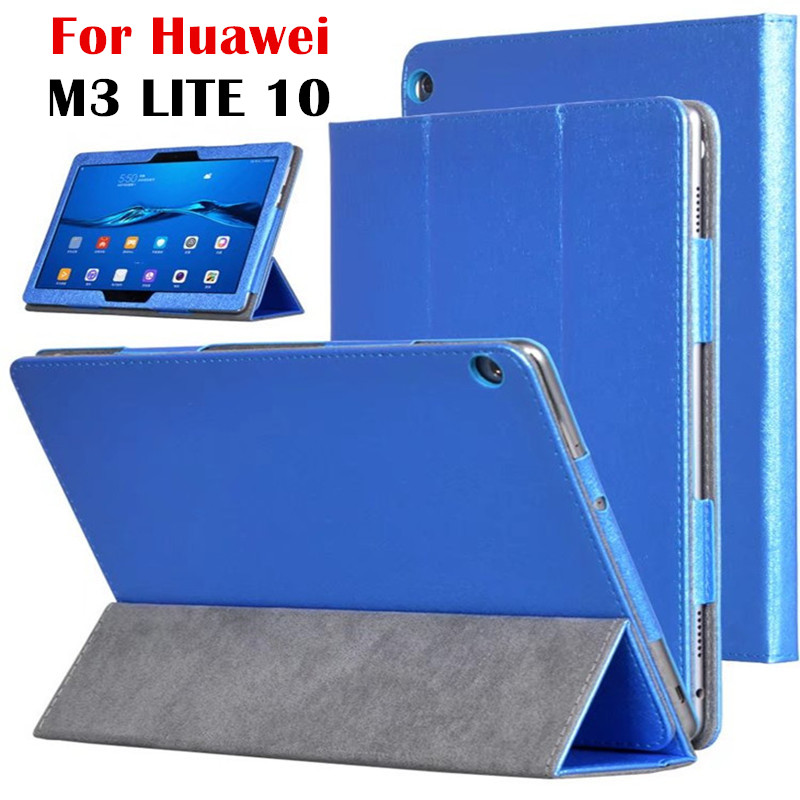 PU Leather Case For Huawei MediaPad M3 Lite 10 Silk Print Smart Case Cover For Media pad M3 Lite 10.1'' BAH-W09 BAH-AL00 case for huawei mediapad m3 lite 8 inch magnet wake smart case cover for huawei mediapad m3 lite 8 0 inch with stand holder