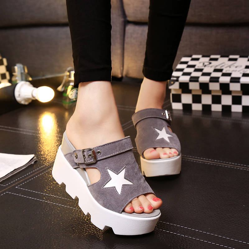 SUMMER STYLE Platform Sandals Shoes Women Slippers High Heel Casual Shoes Open Toe Sandals Gladiator Trifle Sandals Women Shoes phyanic 2017 gladiator sandals gold silver shoes woman summer platform wedges glitters creepers casual women shoes phy3323