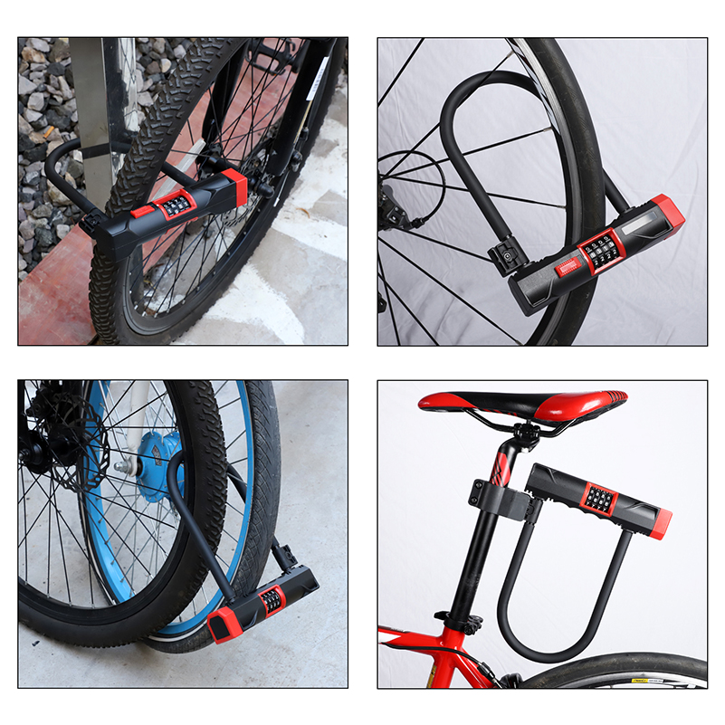 U Lock Bicycle Bike Motorcycle Cycling ScooterSecurity Steel Chain with 2 Key RS
