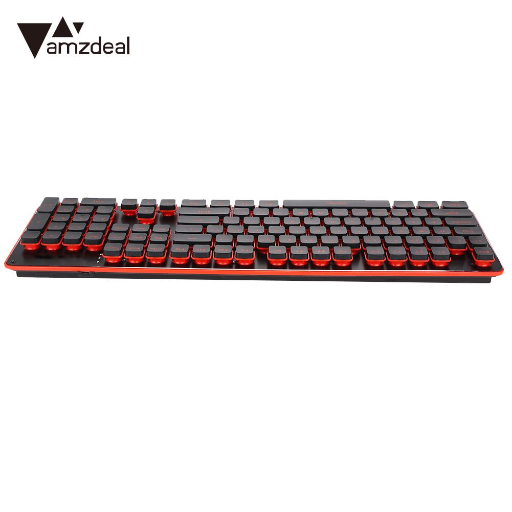 цена Keyboard Mouse Combos 104 Keys Classic Keyboard Set Wireless Gaming Keyboard Set 2.4GHz USB