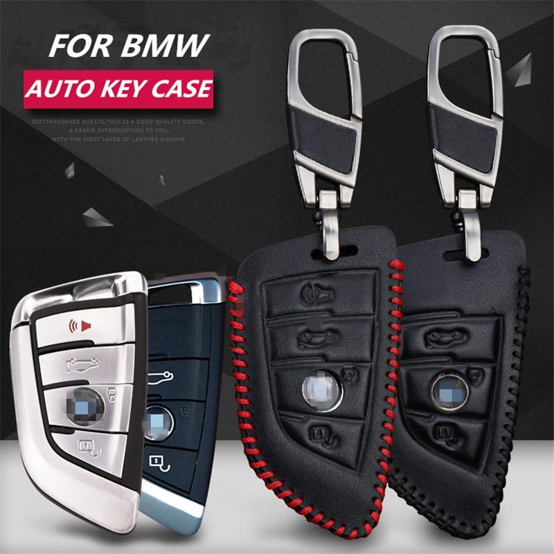 LUNASBORE Funda del paquete de llaves de coche de cuero de vaca de - Accesorios de interior de coche - foto 1
