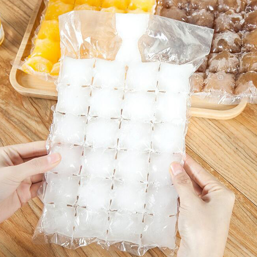 100pcs/lot Disposable Ice-making Bags Ice Cube Tray Mold Eco-friendly Ice Maker Water Injection Ice Bag Cold Pack