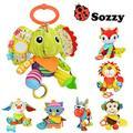 Brinquedos do bebê Aplacar Atividade Boneca de Brinquedo Carrinho de Bebê Pendurado Sinos Cama Multifuncional