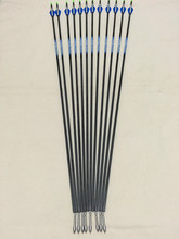 12 Pcs 30″ Carbon arrow ID4.2 Spine700 with  Pin Nock Bushing for Recurve bow archery and hunting Free shipping