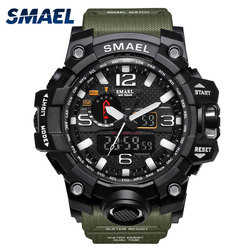 SMAEL Sport Watches for Men Waterproof Digital Watch LED Men's Wristwatch Clock Man 1545 montre homme Big Men Watches Military