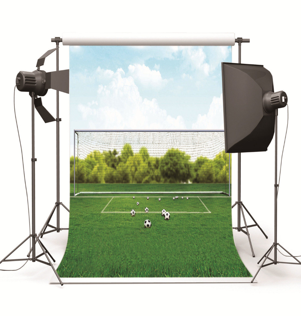 Photography Background for Baby Photo Studio Children Wedding Football Ground Vinyl Photographic Backdrop for Photo Shooting