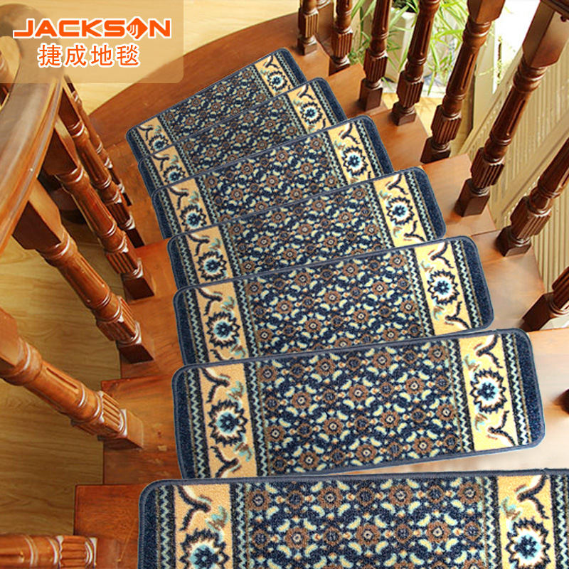 13Piece/set European Classical Style Stair Mats Stair Treads Carpet Sets Anti-Skid Staircase Step Rug Protection Cover