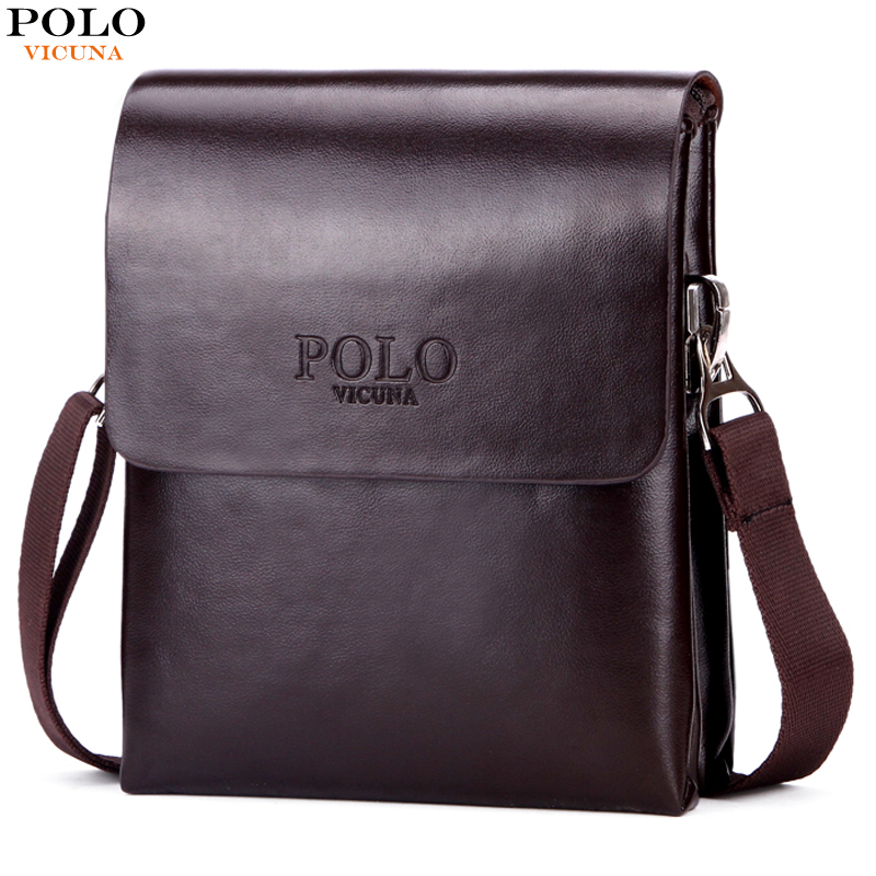VICUNA POLO Hot Sell Small Mens Messenger Bag Mini Size Double Deck High Capacity Mens Crossbody Bag Simple Mens Flap Bags Hot authentic polo golf double clothing shoes bags mens golf apparel travel bag bolsas zapatos double garment high capacity package