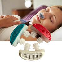 ¡Nuevo! PM2.5 Dispositivo de ronquido CPAP de patente Apnea de ventilación de la nariz aparato de respiración congestión Nasal purificador de aire limpio
