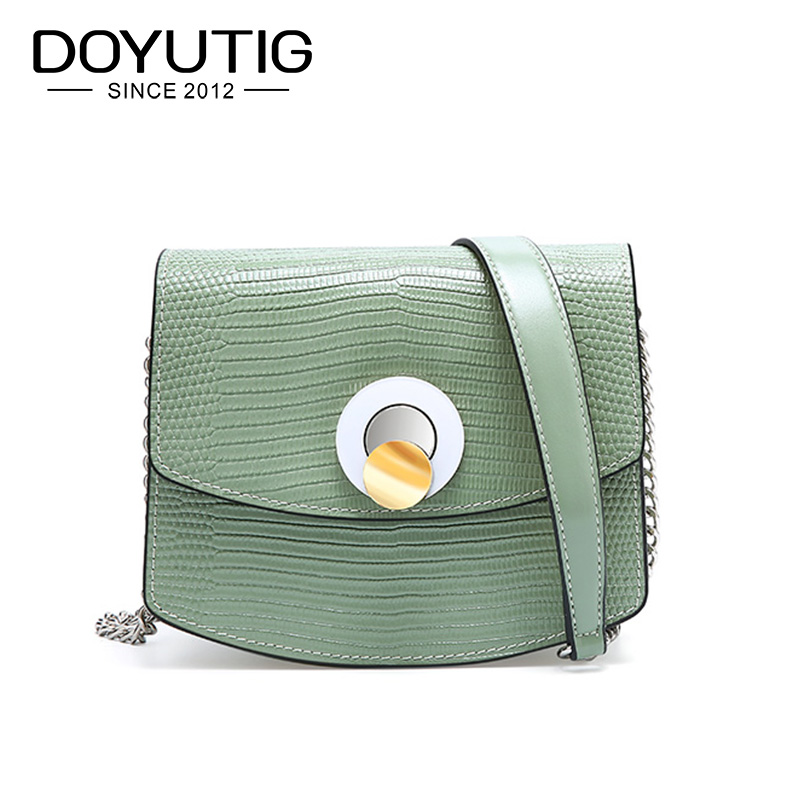 DOYUTIG Brand Genuine Leather Crossbody Bag For Women 2019 Luxury Lizard Pattern Handbag Classical Square Flap Shoulder Bag F657DOYUTIG Brand Genuine Leather Crossbody Bag For Women 2019 Luxury Lizard Pattern Handbag Classical Square Flap Shoulder Bag F657