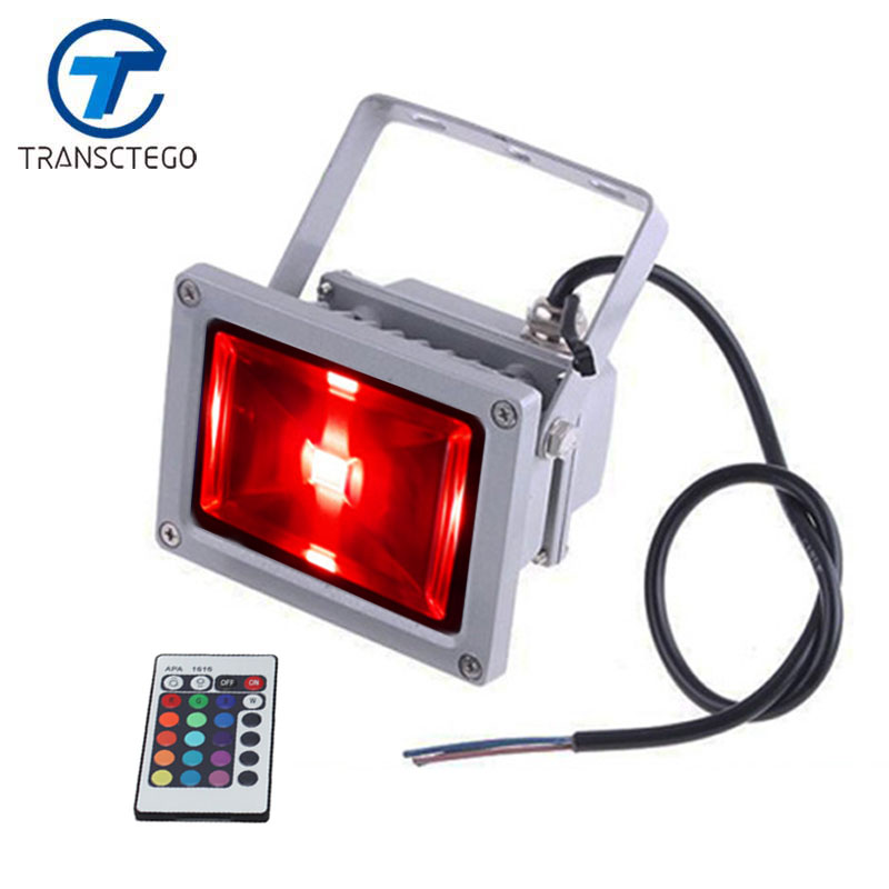 TRANSCTEGO Outdoor Spotlight LED RGB FloodLight Waterproof Wash Lighting With Remote Controller Beautiful Design Floodlights