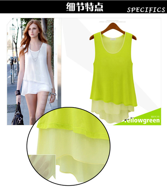 Free shipping 2014 new chiffon fashion T-shirt