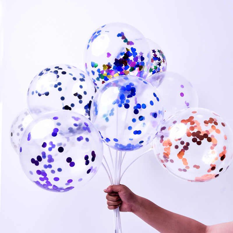 Высококачественные конфетти воздушные шары Прозрачные Шары вечерние украшения для свадебной вечеринки детские товары для дня рождения Воздушные шары игрушки