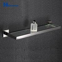 Bathroom Tempered Glass Shelf,Wall Mount Rectangular,SUS304 Stainless Steel Bathroom Shelf.Bathroom Accessories