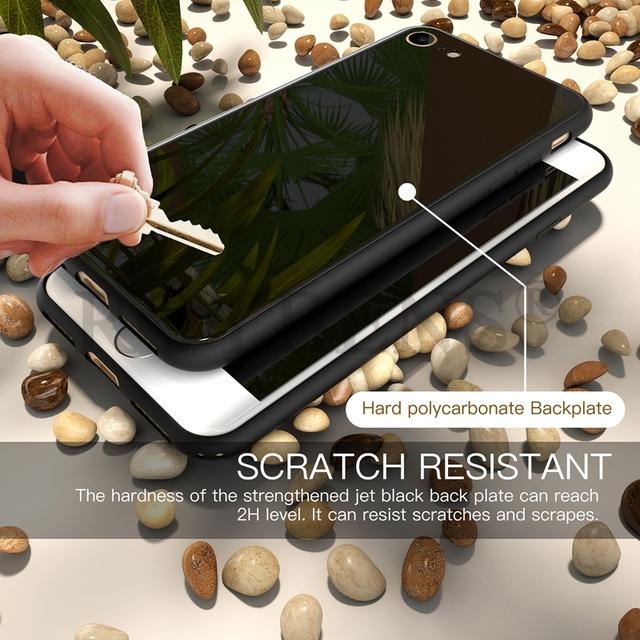 Coque de luxe effet brillant Noir de Jais pour iPhone 7