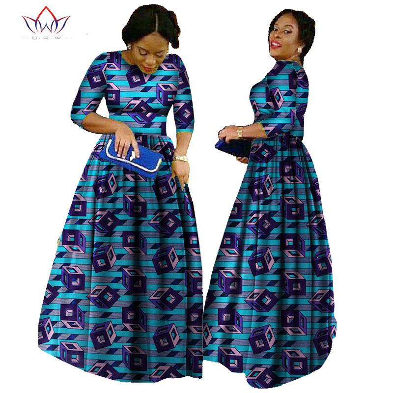 Afrika qadınlar üçün 2019 african bazin paltar african uzun - Qadın geyimi - Fotoqrafiya 2