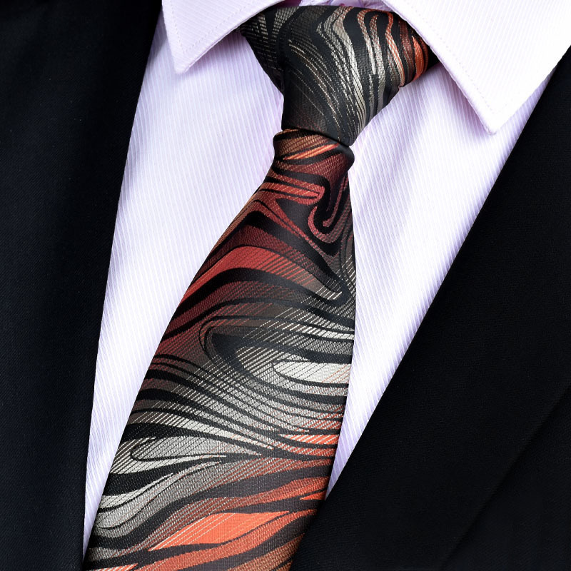 NiniRusi hot paisley tie for mens 100 silk neckties designers fashion men ties 8cm navy and red striped tie wedding in Men 39 s Ties amp Handkerchiefs from Apparel Accessories