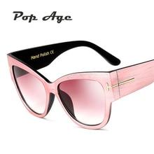 Pop Age High quality Oversized Cat Eye Sunglasses Women Brand Designer Eyeglasses Gradient Luxury Sun glasses Lunettes de soleil