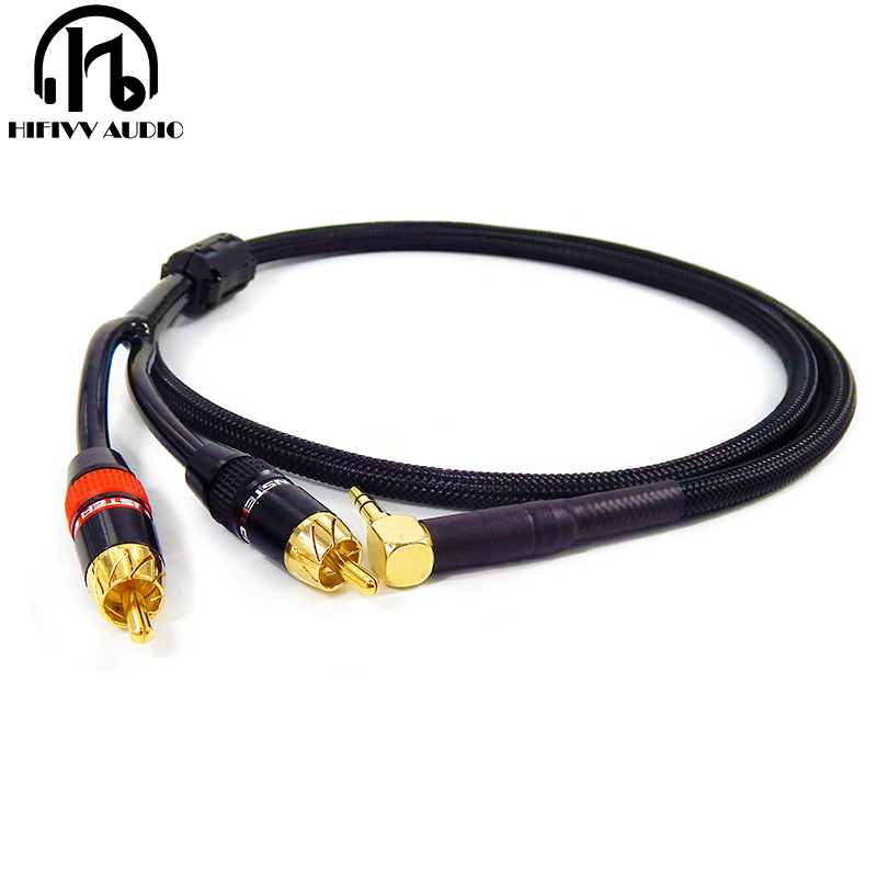 0.75M 4N 4-Core OFC HIFI Double lotus RCA For stereo canare audio signal cable