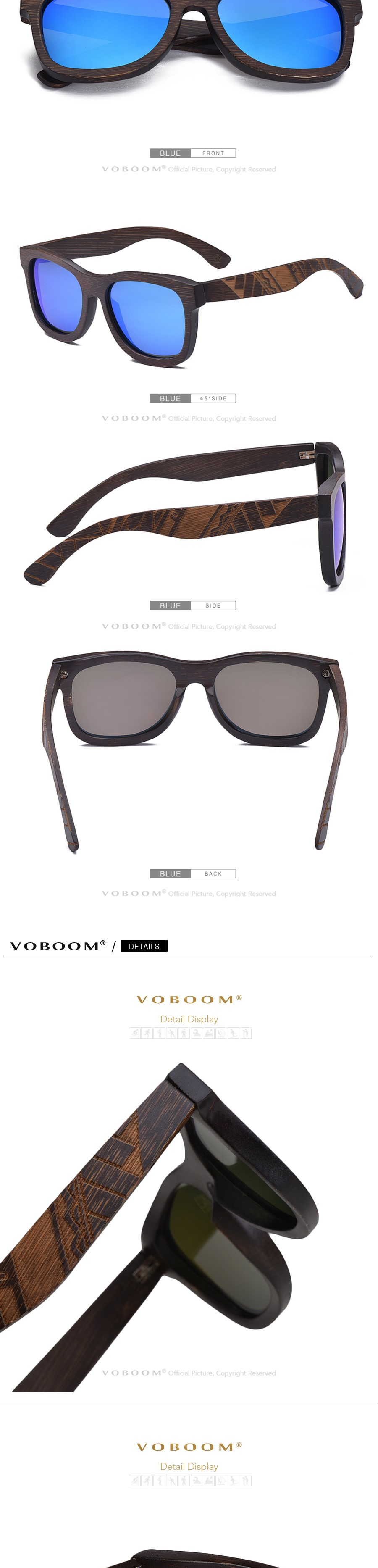 1197ff883e Detail Feedback Questions about VOBOOM Polarized UV400 Sunglasses ...