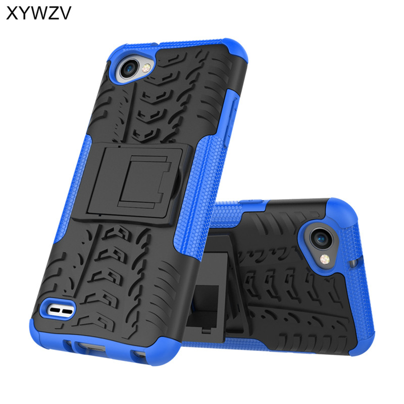 "Image 5 - sFor Coque LG Q6 Case Shockproof Hard Ruber PC Silicone Phone Case For LG Q6 M700 Cover For LG Q6 Q 6 M700 Shell 5.5"" XYWZV-in Fitted Cases from Cellphones & Telecommunications"